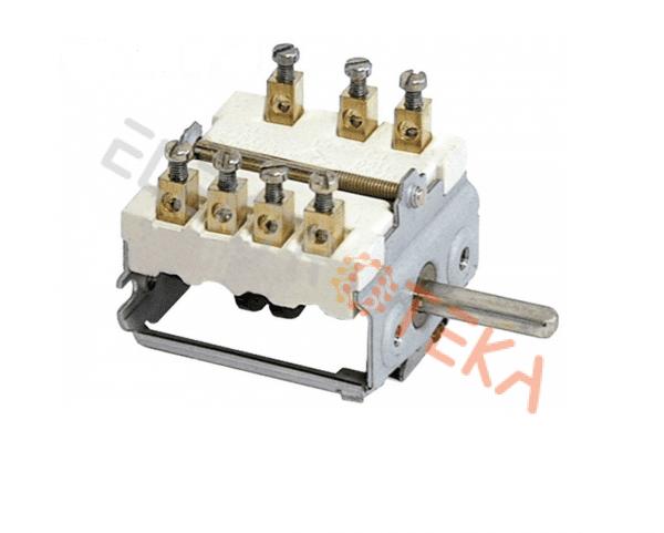 Komutatorius 4 padėčių 1NO/2CO 16A ašis ø 6x4.6mm ašies ilgis 23mm