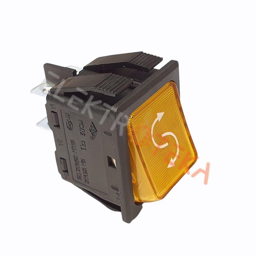 Jungiklis be fiksacijos 30x22mm oranžinis 2NO 250V 16A