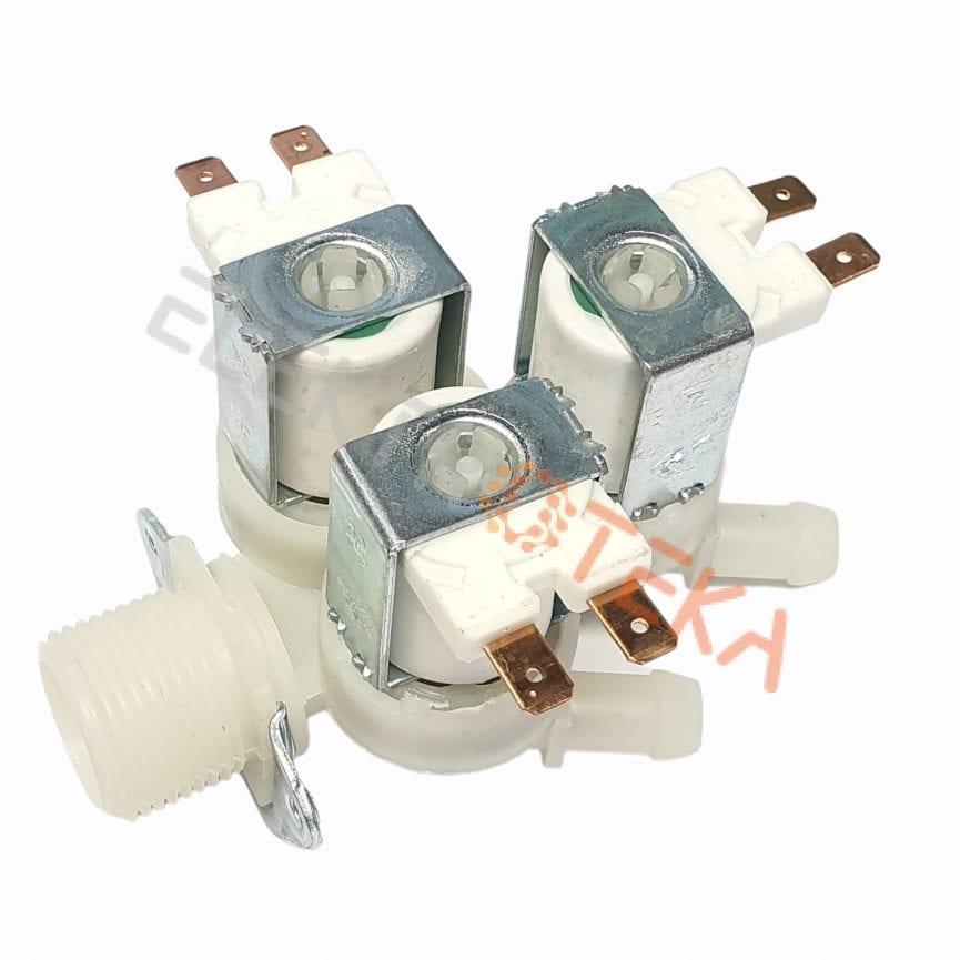 """Trigubas solenoidinis vandens vožtuvas 230VAC įėjimas 3/4"""" išėjimas 11,5mm DN10"""
