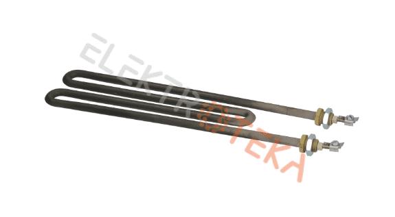 """Kaitinimo elementas 1840W 230V ilgis 275mm plotis 70mm kontaktai M4 flanšo sriegis 1/4"""""""