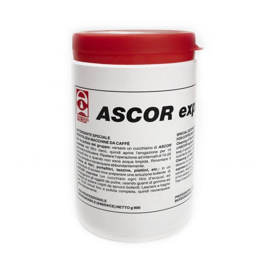 Valymo priemonė ascor express granulėmis, kavos aparatų grupėms valyti, bendras svoris 900gr
