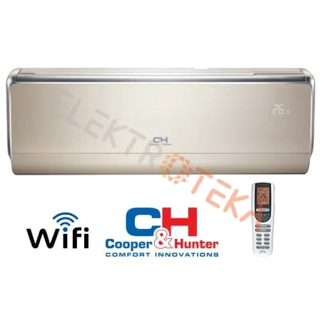 Cooper&Hunter VIP Inverter CH-S12FTXHV-B efektyvus šildymas iki -30°C
