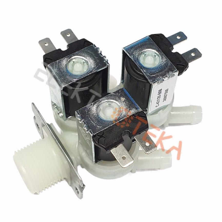 """Trigubas solenoidinis vožtuvas 230VAC įėjimas 3/4"""" išėjimas 11,5mm"""