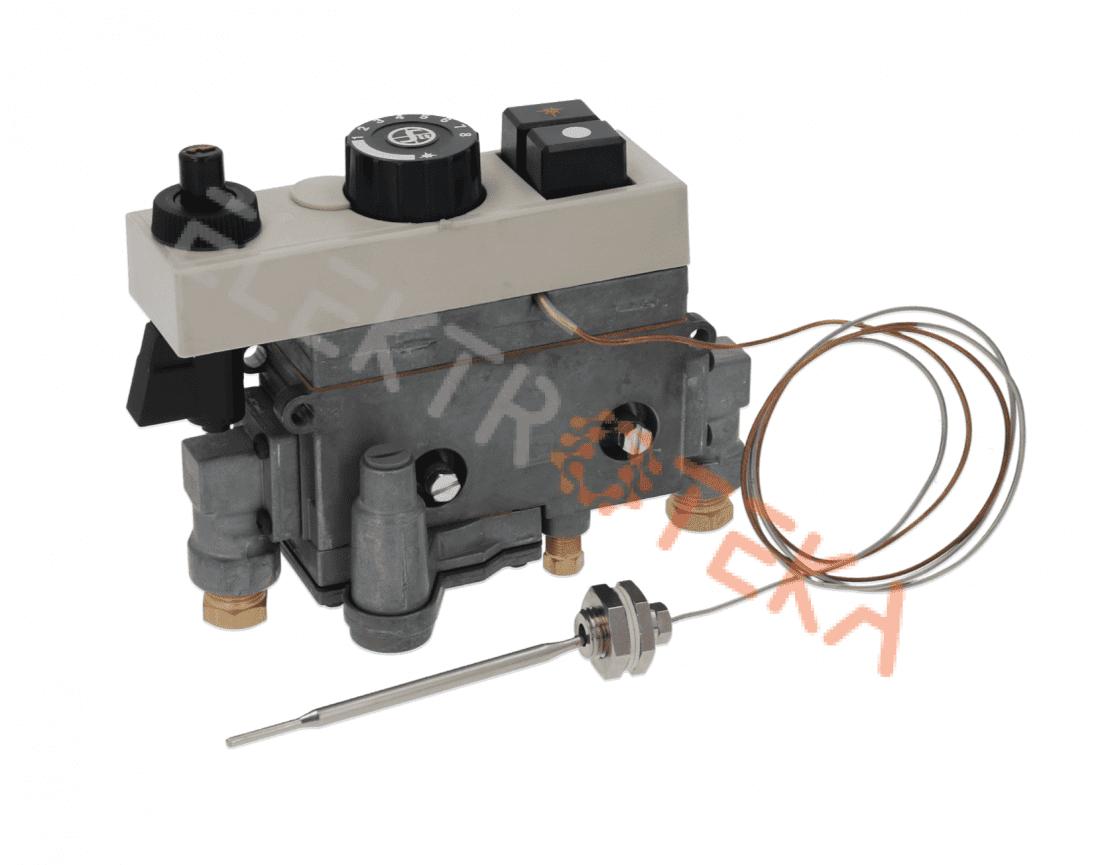 """Dujinis termostatas tipas MINISIT 710 temperatūrinis diapazonas 60-200°C įėjimas dujoms 3/8"""" įšėjimas 3/8"""""""
