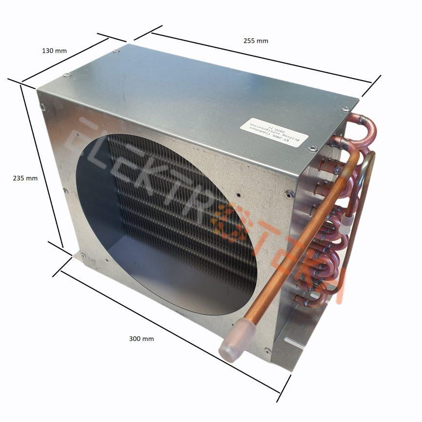 Kondensatorius/aušintuvas RT-280L plotis 300mm aukštis 235mm gylis 130mm