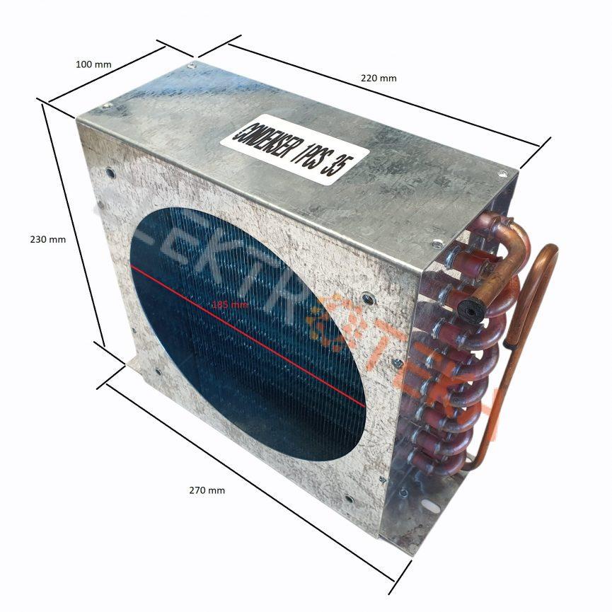 Kondensatorius/aušintuvas plotis 270mm aukštis 230mm gylis 100mm