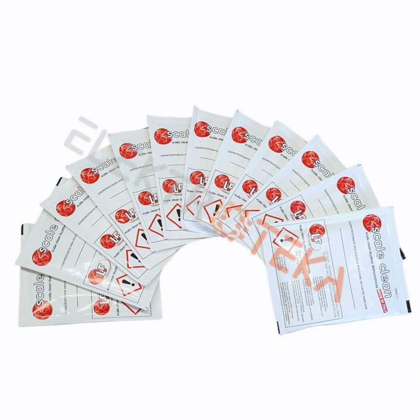 Kalkių nuosėdų valymo priemonė SCALE CLEAN ITALY 12 maišelių granulėmis po 25g. bendras svoris 300g