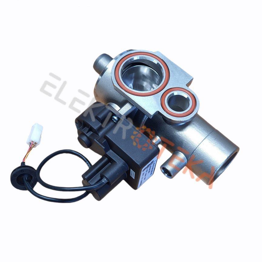 Rutulinė sklendė konvekcinėms krosnims SCC 61-202, SCC_WE 61-202 maitinimas 12V įėjimas 40mm išėjimas 40mm
